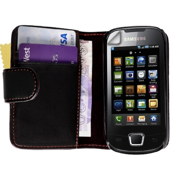YouSave Accessories Samsung Galaxy Apollo Leather-Effect Wallet Case - Black