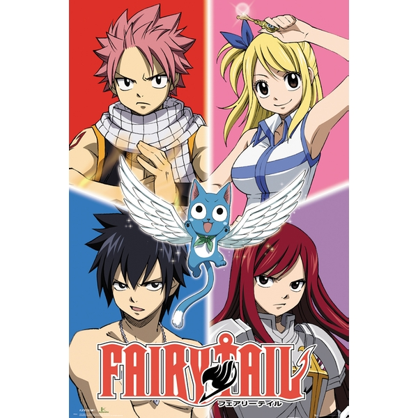 Fairy Tail Quad Maxi Poster