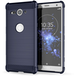 Sony Xperia XZ2 Compact Carbon Anti Fall TPU Case - Blue - Image 2