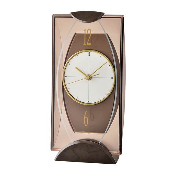 Seiko QXG103B Mantel Clock - Brown