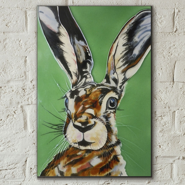 Mad Hare Day Wall Tile By S Fenner