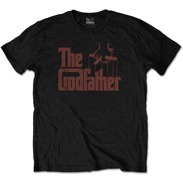The Godfather - Logo Brown Unisex Small T-Shirt - Black
