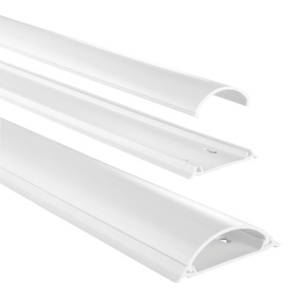 Hama Cable Duct, Semicircular, 100/21 Cm, White