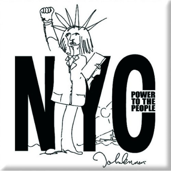 John Lennon - NYC Power to the People Fridge Magnet