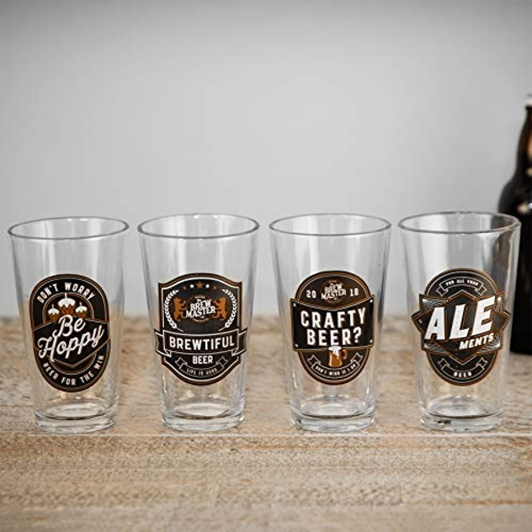 Brewmaster 4 Beer Glass Set