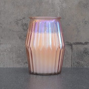 Ridged Glass Wax Filled Pot Candle Prosecco Scent 360g