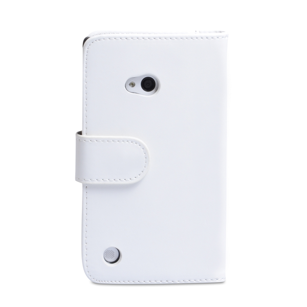 YouSave Accessories Nokia Lumia 720 Leather-Effect Wallet Case - White - Image 2