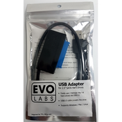 Evo Labs USB 3.0 A (M) to SATA (M) Black Retail Packaged Converter Adapter Cable - For use with 2.5