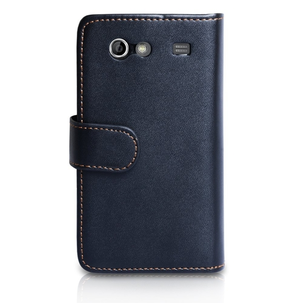 YouSave Accessories Samsung Galaxy S Advance Leather-Effect Wallet Case - Black - Image 2