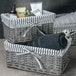 Grey Wicker Basket | M&W Medium - Image 4