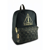 Harry Potter Deathly Hallows Black Polyester Backpack