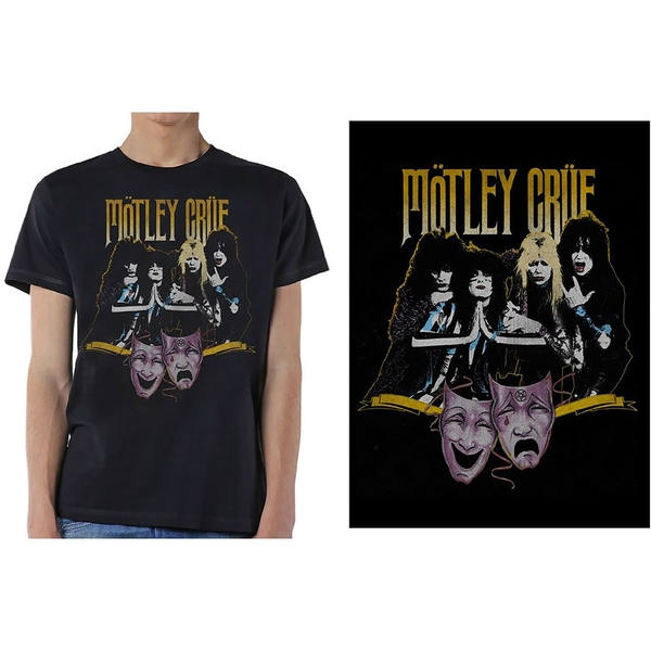 Motley Crue - Theatre Vintage Men's Large T-Shirt - Black