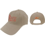 David Bowie - Flash Logo Men's Baseball Cap - Sand