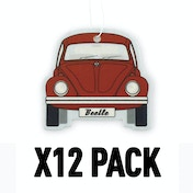 Melon/Red VW Beetle (Pack Of 12) Air Freshener
