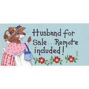 Husband For Sale...Remote Included Smiley Sign Pack Of 12