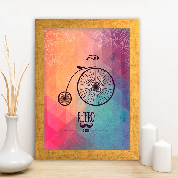 AC132009791 Multicolor Decorative Framed MDF Painting