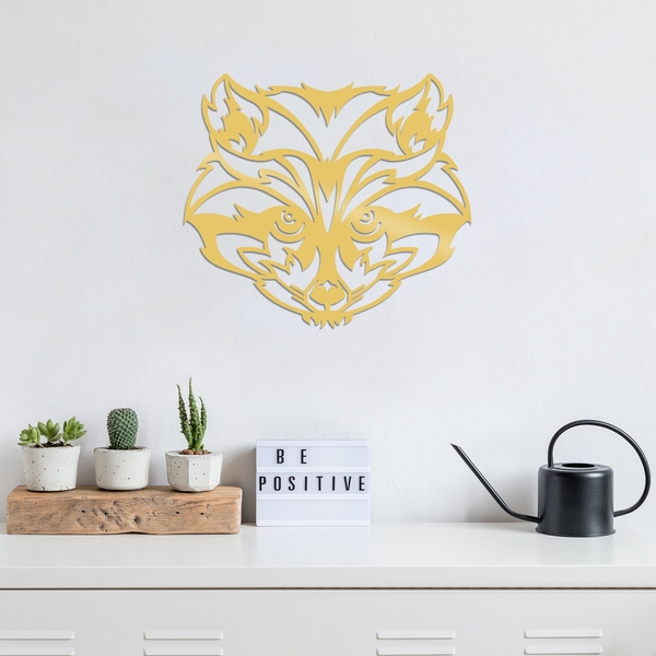 Raccoon - Gold Gold Decorative Metal Wall Accessory
