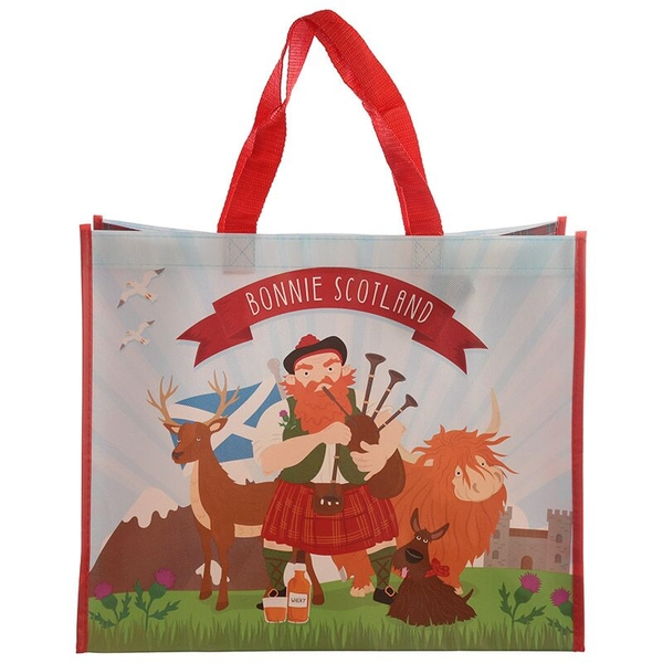 Scottish Piper Design Durable Reusable Shopping Bag