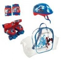 MARVEL COMICS Spider-Man Quad Skates Set (Quads Skates, Protective Helmet/Pads & Bag)