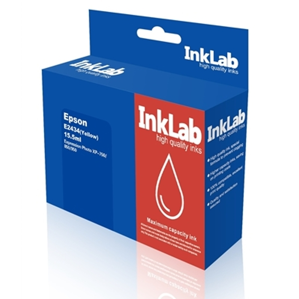 InkLab 2434 Epson Compatible Yellow Replacement Ink