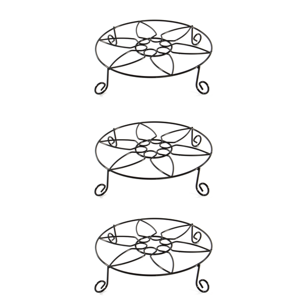 Iron Plant Pot Stands - Set of 3 | M&W