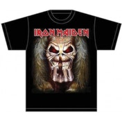 Iron Maiden Eddie Candle Finger Mens T Shirt: Large