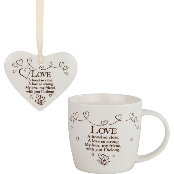 Said with Sentiment Ceramic Mug & Heart Gift Sets Love