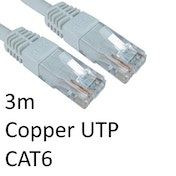 RJ45 (M) to RJ45 (M) CAT6 3m White OEM Moulded Boot Copper UTP Network Cable