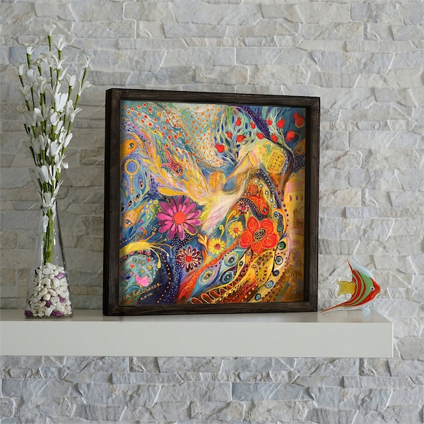 KZM478 Multicolor Decorative Framed MDF Painting