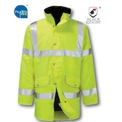 Black Knight X-Large Rapier High Visibility Breathable 3/4 Jacket - Yellow