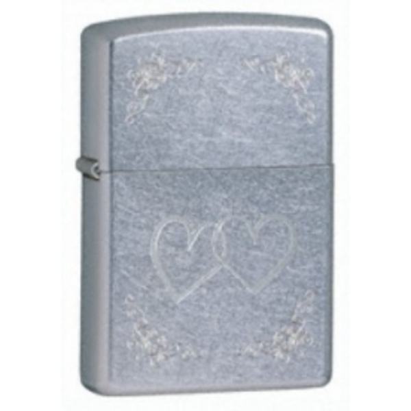 Zippo Heart To Heart Street Chrome Windproof Lighter - Image 1