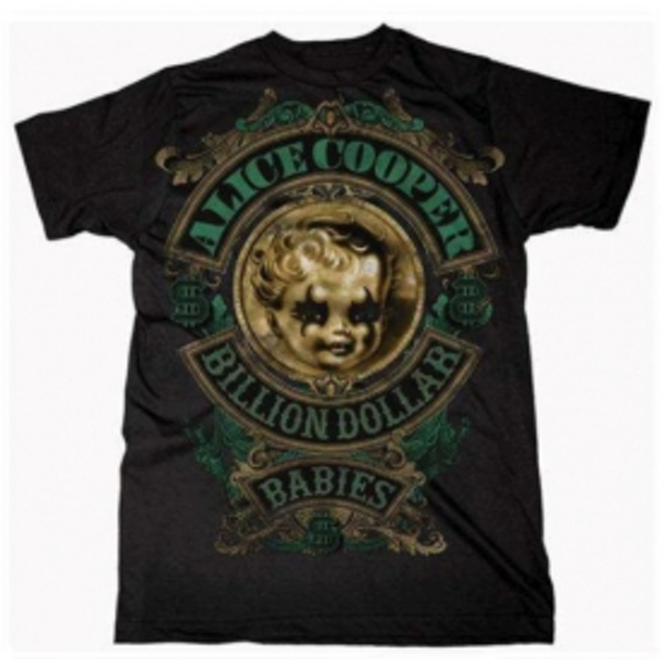 Alice Cooper Billion Dollar Baby Crest Mens T Shirt: Medi