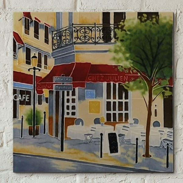 Tile 8x8 The Crepe House By B Heighton Wall Art