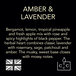 Amber & Lavender (Wonderwick) Noir Glass Candle - Image 6