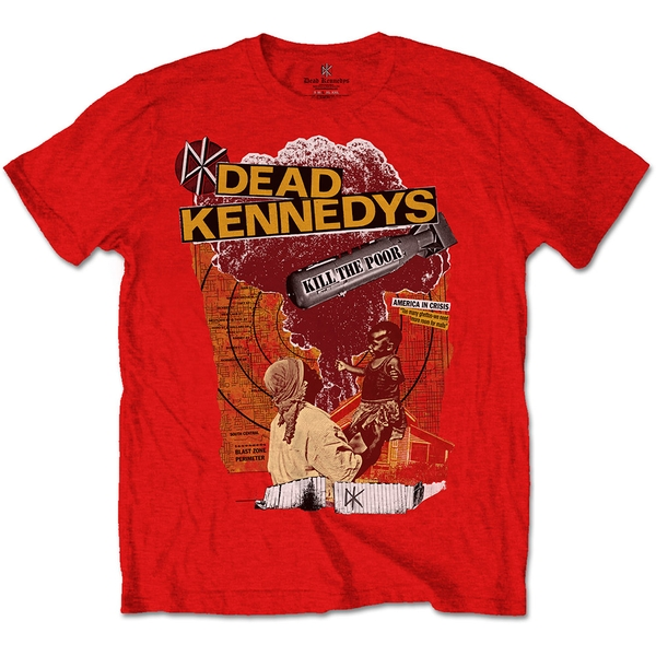Dead Kennedys - Kill The Poor Unisex X-Large T-Shirt - Red