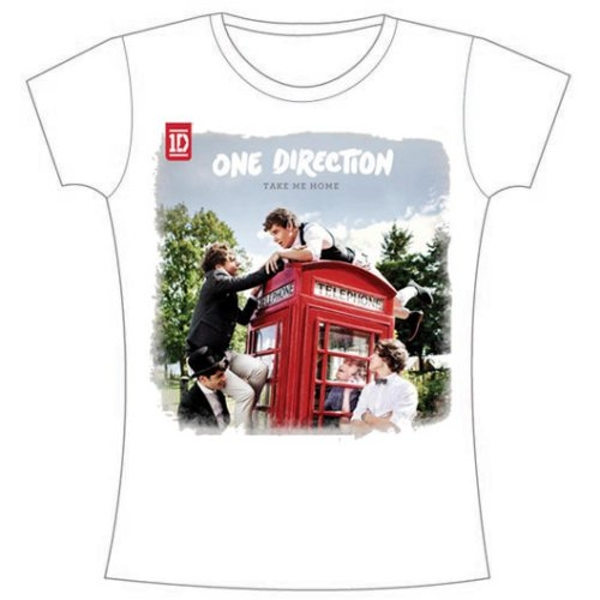 One Direction - Take Me Home Rough Edges Women's Large T-Shirt - White