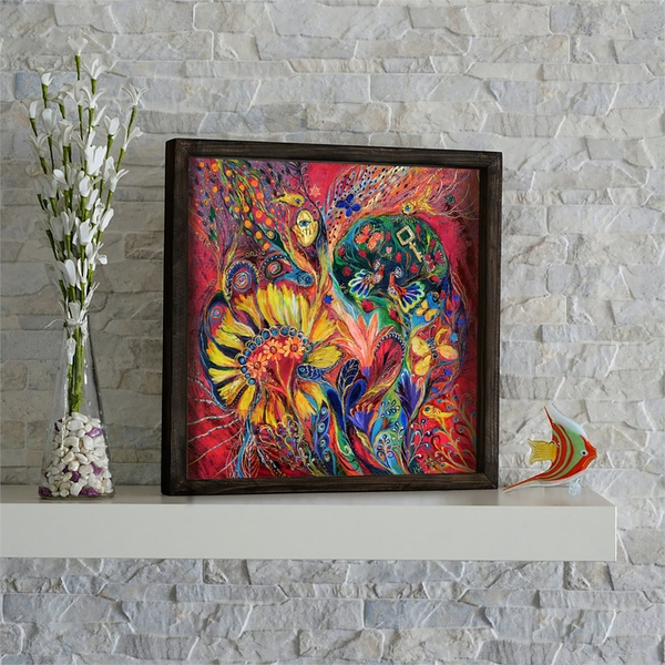 KZM479 Multicolor Decorative Framed MDF Painting