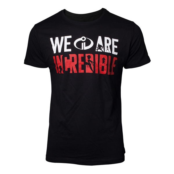 Disney - We Are Incredible Men's Small T-Shirt - Black
