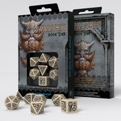 Q-Workshop Dwarven Beige & Black Dice Set