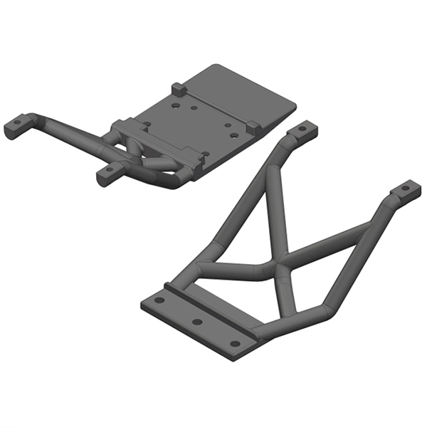 Corally Skid Plates Fr/Re 1 Set