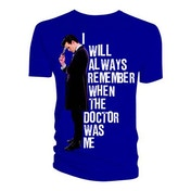 Doctor Who - I Will Always Remember When The Doctor Was Me Men's Large T-Shirt - Blue