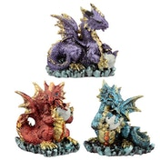 Mother and Hatching Baby Elements Dragon Figurine (1 Random Supplied)