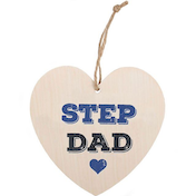 Step Dad Hanging Heart Sign