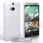 YouSave Accessories HTC One M8s Ultra Thin Gel Case - Clear