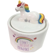 Novelty Ceramic Rainbow Unicorn Jewellery Box