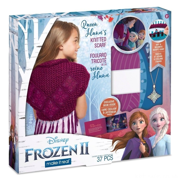 Make It Real - Disney Frozen 2 Queen Iduna's Knitted Shawl Kit