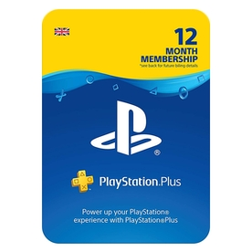 PlayStation PSN 12 Month Wallet Top Up Card PS4, PS3 & PS Vita - UK Account