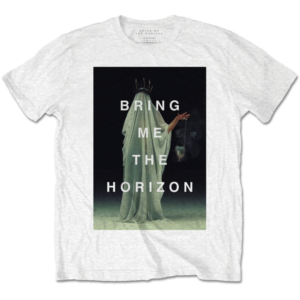 Bring Me The Horizon - Cloaked Unisex Small T-Shirt - White