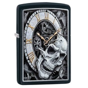 Zippo Skull Clock Design Black Regular Windproof Lighter