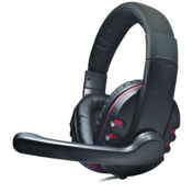 Dynamode Surround Sound Headphone with Microphone (Black/Red)
